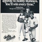 1986 Yankees Bucky Dent Bobby Rubino's Restaurant NY New York Yankees 1986 Magazine Ad Advert