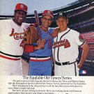 Joe Torre Bob Gibson Warren Spahn Baseball Old-Timers 1986 Ad Advert The Equitable