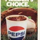 1986 Pepsi Fielder's Choice 1986 Baseball Ad Magazine Advertisement Pepsi-Cola Soda Pepsico Inc
