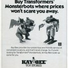 1987 Ad Transformers Monsterbots Advert Kay-Bee Toy Stores Magazine Advertisement
