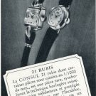 1952 Consul Watch Company Charles Virchaux Switzerland Vintage 1952 Swiss Ad Suisse Advert