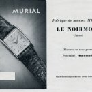 1952 Murial Watch Company Le Noirmont Switzerland Vintage 1952 Swiss Ad Suisse Advert Schweiz