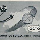 1952 Octo Watch Company Bienne Switzerland Montres Octo SA 1952 Swiss Ad Suisse Advert Schweiz