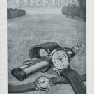 1947 Orfina Watch Company Grenchen Switzerland Vintage 1947 Swiss Ad Advert Suisse Suiza Schweiz