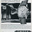 1947 Omega Watch Company Switzerland Vintage 1947 Swiss Ad Advert Suisse Schweiz