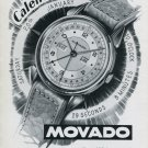 1947 Movado Watch Company Switzerland Vintage 1947 Swiss Ad Advert Suisse Suiza Schweiz
