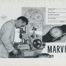 1947 Marvin Watch Company Marvin S.A. Switzerland Vintage 1947 Swiss Ad Advert Suisse Suiza Schweiz