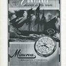 1947 Minerva Watch Company Villeret Switzerland Vintage 1947 Swiss Ad Advert Suisse Suiza Schweiz