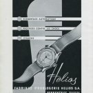 1947 Helios Watch Company Porrentruy Switzerland Vintage 1947 Swiss Ad Advert Suisse Suiza Schweiz