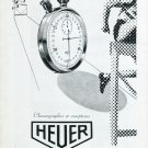 1947 Heuer Watch Company Ed Heuer & Co Switzerland Vintage 1947 Swiss Ad Advert Suisse Schweiz