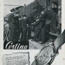 1947 Certina Watch Company Kurth Freres SA Switzerland Vintage 1947 Swiss Ad Advert Suisse Schweiz