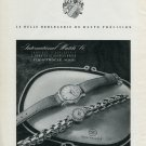 1946 IWC International Watch Company Switzerland Vintage 1946 Swiss Ad Advert Suisse Schweiz Suiza