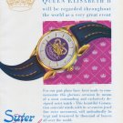 1953 Suter Watch Company Queen Elizabeth II Coronation Ad Vintage 1953 Swiss Ad Advert Suisse