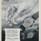 1953 Atlantic Watch Company Aristex Ed Kummer 65th Anniversary 1953 Swiss Ad Advert Suisse Schweiz