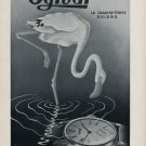 1952 Ogival Watch Company La Chaux-de-Fonds Switzerland Vintage 1952 Swiss Ad Advert Suisse Suiza