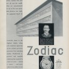 1952 Zodiac Watch Company Switzerland Vintage 1952 Swiss Ad Advert Suisse Schweiz Suiza