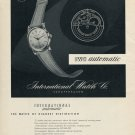 1952 IWC International Watch Company Switzerland Vintage 1952 Swiss Ad Advert Suisse Schweiz Suiza