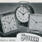 1946 Swiza Clock Company Louis Schwab SA Switzerland Vintage 1946 Swiss Ad Advert Suisse Suiza