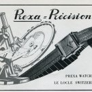 1946 Prexa Watch Company Le Locle Switzerland Vintage 1946 Swiss Ad Advert Suisse Schweiz Suiza