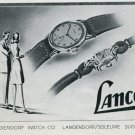 1946 Lanco Watch Company Langendorf Watch Co Switzerland Vintage 1946 Swiss Ad Advert Suisse Schweiz