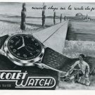 1946 Nicolet Watch Company Tramelan Switzerland Vintage 1946 Swiss Ad Advert Suisse Suiza Schweiz