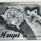 1946 Hugex Watch Company Huga SA Switzerland Vintage 1946 Swiss Ad Advert Suisse Schweiz Suiza