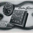 1946 Ergim Clock Company Erwin Girard SA Switzerland Vintage 1946 Swiss Ad Advert Suisse Schweiz