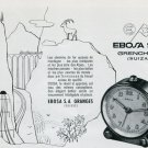 1946 Ebosa Clock Company Ebosa S.A. Granges Switzerland Vintage 1946 Swiss Ad Advert Suisse Suiza