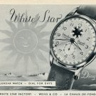1953 White Star Watch Company Weiss & Co. Switzerland Vintage 1953 Swiss Ad Suisse Advert Schweiz