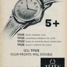 1953 Titus Watch Company Paul Ditisheim SA Switzerland Vintage 1953 Swiss Ad Advert Suisse Schweiz