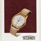 1953 Technos Watch Company Gunzinger Bros. Switzerland Vintage 1953 Swiss Ad Advert Schweiz Suisse