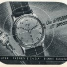 1953 Pierpont Watch Company Sauter Freres & Cie SA Switzerland Vintage 1953 Swiss Ad Advert Suisse