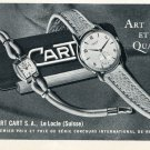 1953 Robert Cart Watch Company Switzerland Vintage 1953 Swiss Ad Advert Suisse Schweiz Suiza