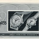 1953 Jenco Watch Company Jenny & Frey S.A. Switzerland Vintage 1953 Swiss Ad Advert Suisse Schweiz