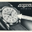 1953 Gigantic Watch Company Switzerland Vintage 1953 Swiss Ad Advert Suisse Svhweiz Suiza