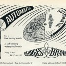 1953 Georges Brandt Watch Company Switzerland Vintage 1953 Swiss Ad Advert Suisse Schweiz Suiza