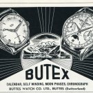 1953 Butex Watch Company Buttes Watch Co Switzerland Vintage 1953 Swiss Ad Advert Suisse Schweiz