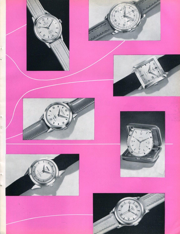 1953 Swiss Watch Fair Basle Switzerland Foire de Bale Vintage 1953 Swiss Magazine Clipping