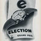 1953 Election Watch Company Switzerland Grand Prix Ad Vintage 1953 Swiss Ad Advert Suisse Schweiz