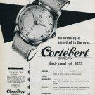 1953 Cortebert Watch Company Cortebert Spirofix Ad Advert 1953 Swiss Ad Suisse Schweiz Suiza