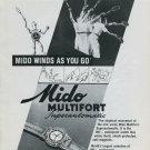 1946 Mido Watch Company Mido Multifort Watch Ad Advert 1946 Swiss Ad Suisse Schweiz Suiza