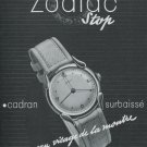 1947 Zodiac Watch Company Switzerland Vintage 1947 Swiss Ad Advert Suisse Suiza Schweiz