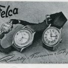 1948 Felca Watch Company Switzerland Vintage 1948 Swiss Ad Advert Suisse Schweiz Suiza