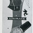 1948 Record Automatic Watch Ad Advert Vintage 1948 Swiss Magazine Ad Suisse Suiza Schweiz