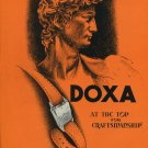 1948 Doxa Watch Company At the Top for Craftsmanship 1948 Swiss Magazine Ad Advert Suisse