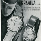 1947 Germinal Watch Company Ad Advert Original Vintage 1947 Swiss Magazine Ad Print Ad Suisse