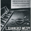 1947 L Jeanneret-Wespy Societe Anonyme Vintage 1947 Swiss Magazine Ad Advert Horology Suisse