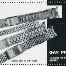 1969 Gay Freres SA Switzerland Vintage Swiss Magazine Print Ad Advert Horology 1960's