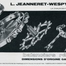 1969 L Jeanneret-Wespy S.A. Switzerland Vintage Swiss Print Ad Advert Suisse Horology 1960's