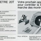 1969 Ad Paul Witschi Wicometre 20T Ad Advert Vintage Swiss Magazine Ad Print Ad Horology